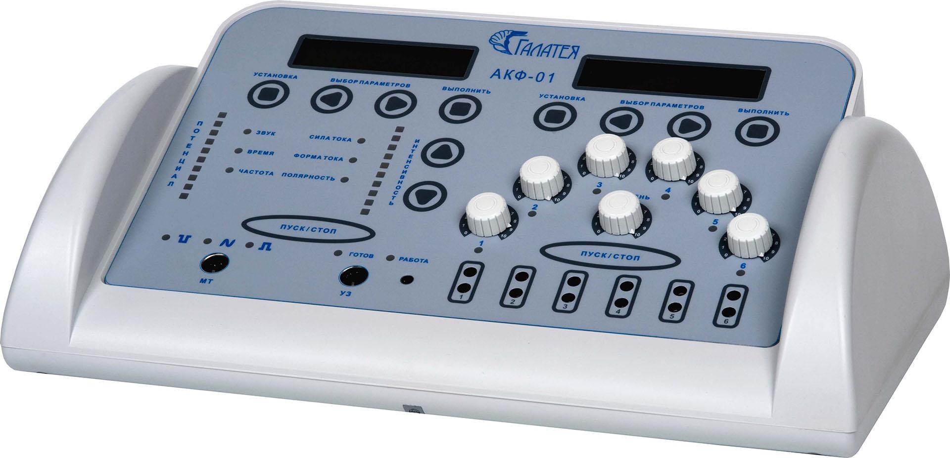 Аппарат ультразвуковой и микротоковой терапии в косметологии и электромионейростимуляционной физиотерапии АКФ-01 «Галатея»