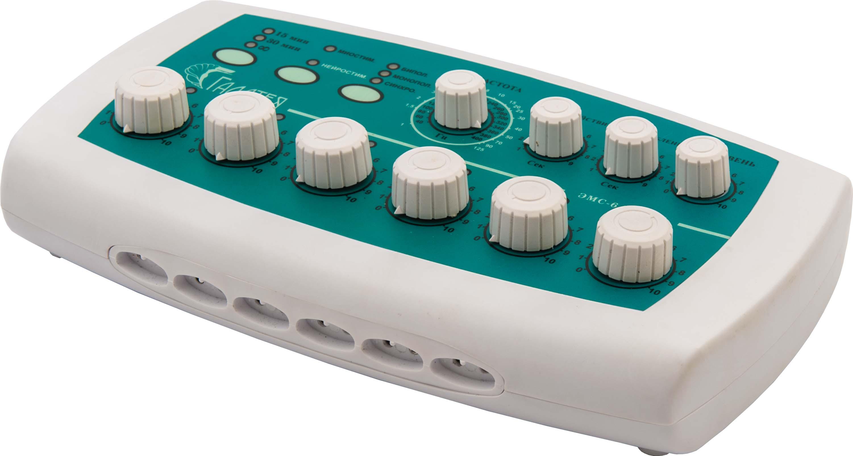 Электромиостимулятор шестиканальный с регулируемой частотой импульсов ЭМС 6/400-02 «Галатея» (с регулятором «мастер»)